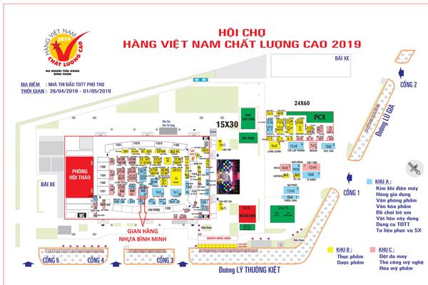 Sơ đồ hội chợ hàng Việt Nam chất lượng cao